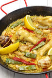 Valencian paella, spanish cuisine Stock Photo