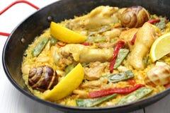 Valencian paella, spanish cuisine Stock Photos