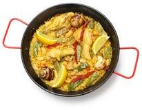 Valencian paella, spanish cuisine Royalty Free Stock Image