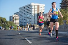 Valencias Marathon Stock Photography