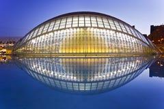 Valencias Stadt von Künsten und von Wissenschafts-Museum Stockbild
