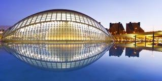 Valencias Stadt von Künsten und von Wissenschafts-Museum Stockbilder