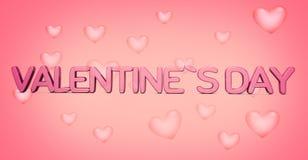 Valenentines dzień 3d odpłaca się śmiałych listy z serca tłem 3 Obraz Stock