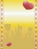 Valenines en fondo del oro Imagen de archivo libre de regalías