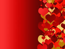 Valenitne's day card with  hearts Royalty Free Stock Images