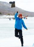 valenok 2012 рыболовства baikal бросая Стоковая Фотография