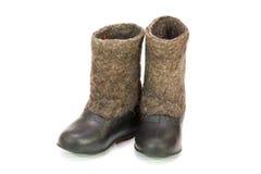 Valenoks avec des couvre-chaussures Images libres de droits
