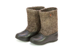 Valenoks avec des couvre-chaussures Photo stock