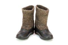 Valenoks avec des couvre-chaussures Photos stock