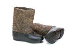 Valenoks avec des couvre-chaussures Image stock