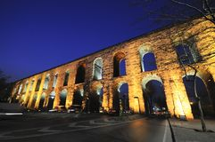 Valens Aqueduct (Bozdogan Kemeri) In Istanbul, Tur Royalty Free Stock Photo
