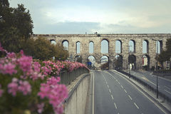 Valens Aqueduct in Istanbul Royalty Free Stock Photography