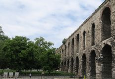 Valens Aqueduct in Istanbul-Fatih, Turkey stock images