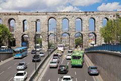Valens Aqueduct in Istanbul, Turkey Stock Photography