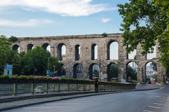 The Valens Aqueduct Stock Photography