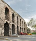 Valens Aqueduct, Roman aqueduct, was the major water providing system of the Eastern Roman capital of Constantinople Istanbul. Istanbul, Turkey - April 21, 2017 Stock Photography