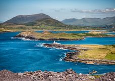 Valentia Island Lighthouse in Western Ireland stock photo