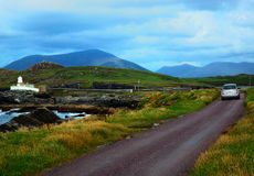 Valentia island lighthouse, kerry, ireland stock photos