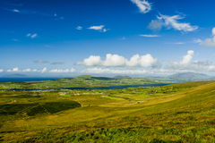 Valentia Island panoramic. Valentia Island, County Kerry, Ireland - August 20, 2010: Valentia Island is one of Ireland's most westerly points lying off the Stock Images