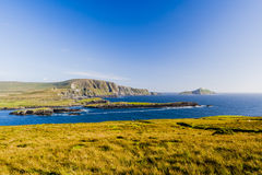 Valentia Island panoramic. Valentia Island, County Kerry, Ireland - August 20, 2010: Valentia Island is one of Ireland's most westerly points lying off the Stock Image