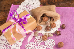 Valentienes treats still life Royalty Free Stock Image