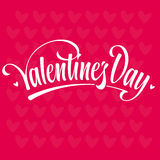 Valenties day lettering Royalty Free Stock Image
