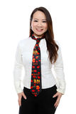 Valenties Day Tie and Woman Royalty Free Stock Image