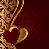 Valentijnskaart. Stock Foto