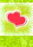 Valentijnskaart ackground Royalty-vrije Stock Foto