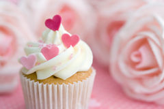 Valentijnskaart cupcake Stock Foto's