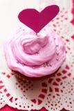 Valentijnskaart cupcake Royalty-vrije Stock Foto's