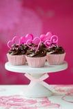 Valentijnskaart cupcakes Royalty-vrije Stock Foto