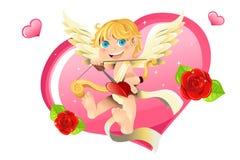 Valentijnskaart cupid Royalty-vrije Stock Afbeeldingen