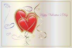 valentijnskaart-dag Stock Afbeeldingen