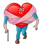Valentijnskaart - de liefde is blind Royalty-vrije Stock Afbeeldingen
