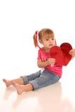 Valentijnskaart girl2 Stock Fotografie