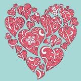 Valentijnskaart-hart stock illustratie