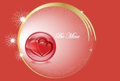 Valentijnskaart-harten Stock Afbeelding