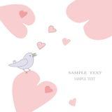 Valentijnskaart of huwelijkskaart Stock Foto