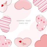 Valentijnskaart of huwelijkskaart Stock Afbeelding