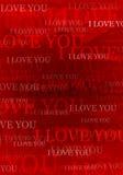 Valentijnskaart i houdt van u achtergrond Royalty-vrije Stock Foto