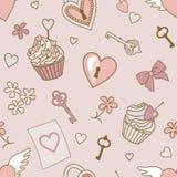 Valentijnskaart-patroon stock illustratie