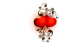 Valentijnskaart twee van San harten Stock Fotografie