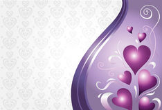 Valentijnskaart & verjaardagskaart Royalty-vrije Stock Foto