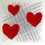 Valentijnskaarten abstracte dekking Royalty-vrije Stock Afbeelding