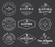 Valentijnskaarten Alchymia Royalty-vrije Stock Afbeeldingen