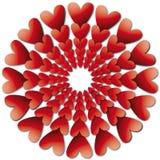 Valentijnskaarten backround met harten Stock Afbeelding