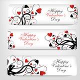 Valentijnskaarten Day.banner Stock Afbeelding