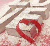 Valentijnskaarten het Koken Stock Afbeeldingen