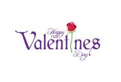 Valentijnskaarten logotype met weg 2 Stock Afbeeldingen
